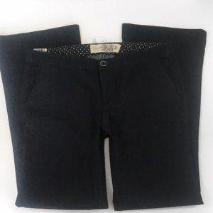 Plus Size Flare Leg Black Formal Dress Pants